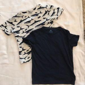 H&M cotton boys T-shirt's, size 4-6